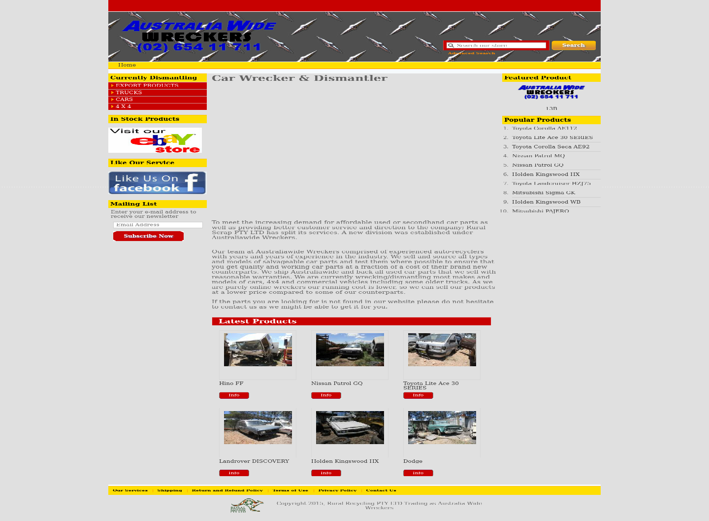 Australiawide Wreckers Website