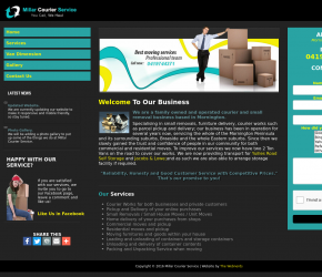 Millar Courier Service Website Design