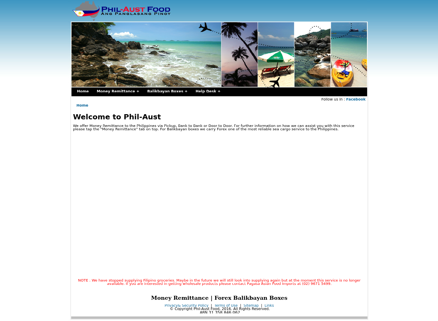 Phil-Aust Food Website